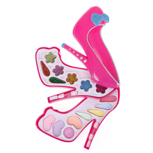 1 Set Safe Kids Girls Makeup Tool Kit Toy Children Girls Pretend Play Make Up Toys Box Cosmetics Play Sets Toys(China)