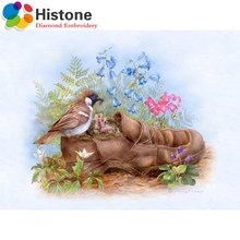 5D diy diamond painting animal Full round rhinestone diamond mosaic embroidery Birds and shoes embroidery home decor 70362