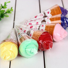 New Arrival Portable Shaped Cup Of Ice Cream Towel Double Color Soft Gift Towel (Random Color )(China)