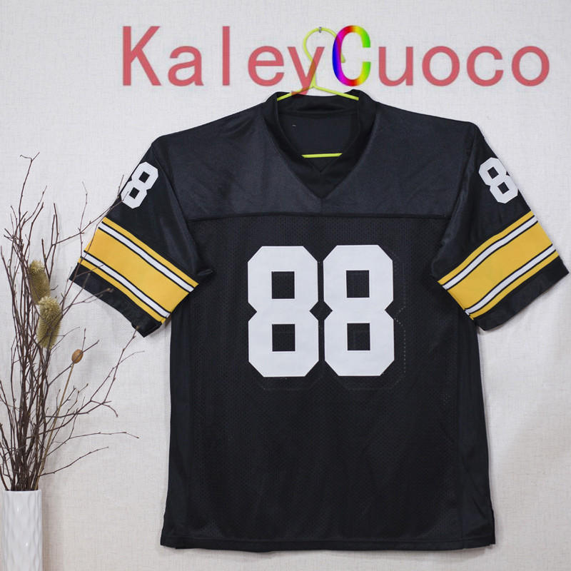 Retro star #88 Lynn Swann Embroidered Throwback Football Jersey M&N 48 50 52 54 56 Jerseys(China (Mainland))