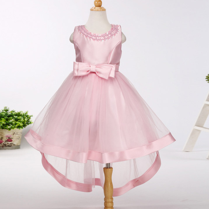 Girls Bridesmaid Trailing Tail Dress kids Frock designs Princess Dress For Wedding Birthday Party Vestidos For 4 6 8 10 12 Years<br>