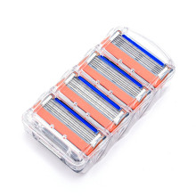 4pcs/lot Razor Blades For Men Shaving Blades Safety 5 1 Layers Blades Cassette Shaver Suit For Gillettee Fusione(China)