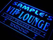 qi-tm Name Personalized Custom VIP Lounge Best Friends Only Bar Beer Neon Sign with On/Off Switch 7 Colors 4 Sizes