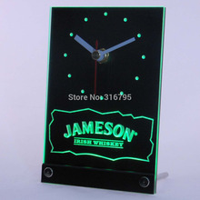 tnc0119 Jameson Irish Whiskey 3D LED Table Desk Clock