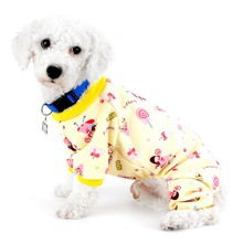 Lollipop Print Apparel Dog Pajamas Pet Soft Dog Clothes for Small Dogs Puppy Pajamas Outfit Dog Jumpsuit for Chihuahua Yorkshire(China)