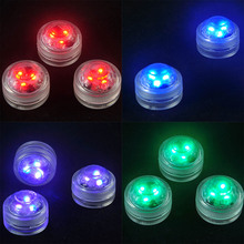 LED Submersible Remote Control Candle Floral Tea Light Candle Flashing Waterproof Wedding Party Decoration