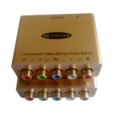 Cat5 Component Video Stereo Audio converter Compent video balun component video extender(China)