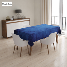 Tea Table Cloth Navy Decoration Martian Alien Skin Contemporary Art Interesting Gradient Modern Blue 145x120 cm / 145x180 cm