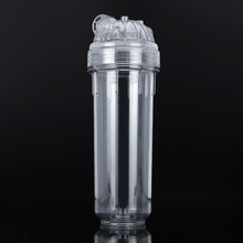 1pcs Transparent  10 Inch High Pressure Filter Bottle Water Filter Housing 1/4 Inch Connection Interface