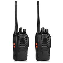 PKR 554.42  26%OFF | 2pcs Baofeng bf-888s Portable Walkie Talkie 16CH bf 888s Two Way Radio UHF 400-470MHz 2 Pcs Hunting Transceiver with Earphone