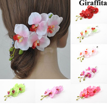 7 Colors Women Flower Hair Clip Hairpin Bridal Hawaii Party Hair Accessories Drop Shipping 2016 New Fashion(China)
