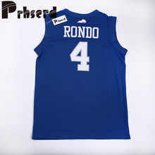 Mens #4 Rajon Rondo College Embroidered Throwback Basketball Jerseys(China)