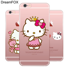 L058 Hello Kitty Soft TPU Silicone Case Cover For Apple iPhone X 8 7 6 6S Plus 5 5S SE 5C 4 4S(China)
