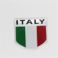 Italy Sports Aluminum National Flag Emblem Badge Car Sticker Styling For Ferrari Abarth Lamborghini Maserati Alfa Romeo Pagani(China)