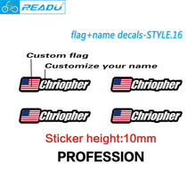 Buy Flag name stickers custom mountain bike frame logo personal name decals custom rider ID sticker bicycle STYLE.16 for $9.80 in AliExpress store