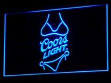 a119 Coors Light Beer Bikini Bar Pub LED Neon Sign with On/Off Switch 7 Colors 4 Sizes to choose
