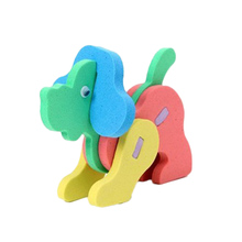 Color Random Hot Kids Toy EVA Foam 3D Creative DIY Handmade Intelligence Development Animals Puzzle Jigsaw Toys For Children