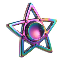 Buy Multicolor Five-pointed Star Fidget Spinner Metal Finger Spinner Hand Spinner Brass Autism Adult Anti Relieve Stress Toy for $3.36 in AliExpress store
