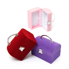 Treasure Chest Earring Ring Bracelet Pendant Jewelry Display Box Case Holder(China)