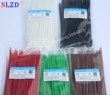 30% OFF! 6 inch Colorful red green Nylon Cable Ties 150mm 100Pcs W=3.6mm Durable Wire Zip Ties Direct Factory Price loop tie(China)