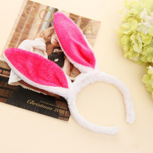 New Cute Easter Bunny Ears Rabbit Headband Gift Party Fancy Dress Cosutume Kids Girl Hairband 3pcs/lot(China)