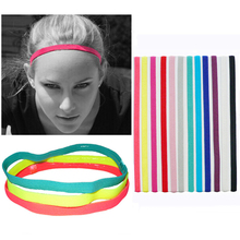 Women's Men's Candy Color Sports Running Anti-Slip Elastic Headband Hair Band(China)