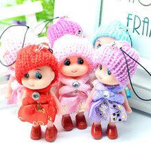 Hot Selling 1pc Cute Doll Key Chain Mobile Phone Bags Pendant Dolls Small Gift Random Color Key Chain