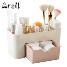 Storage Box wtih Drawer 6 Grid Cosmetic Jewelry Organizer Office Case Desk Plastic Makeup Brush Lipstick Remote Control Holder