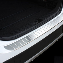 REAR BUMPER PROTECTOR STEP PANEL BOOT COVER FIT FOR 2013 2014 2015 BMW X1 E84 SILL PLATE TRIM Accessories(China)