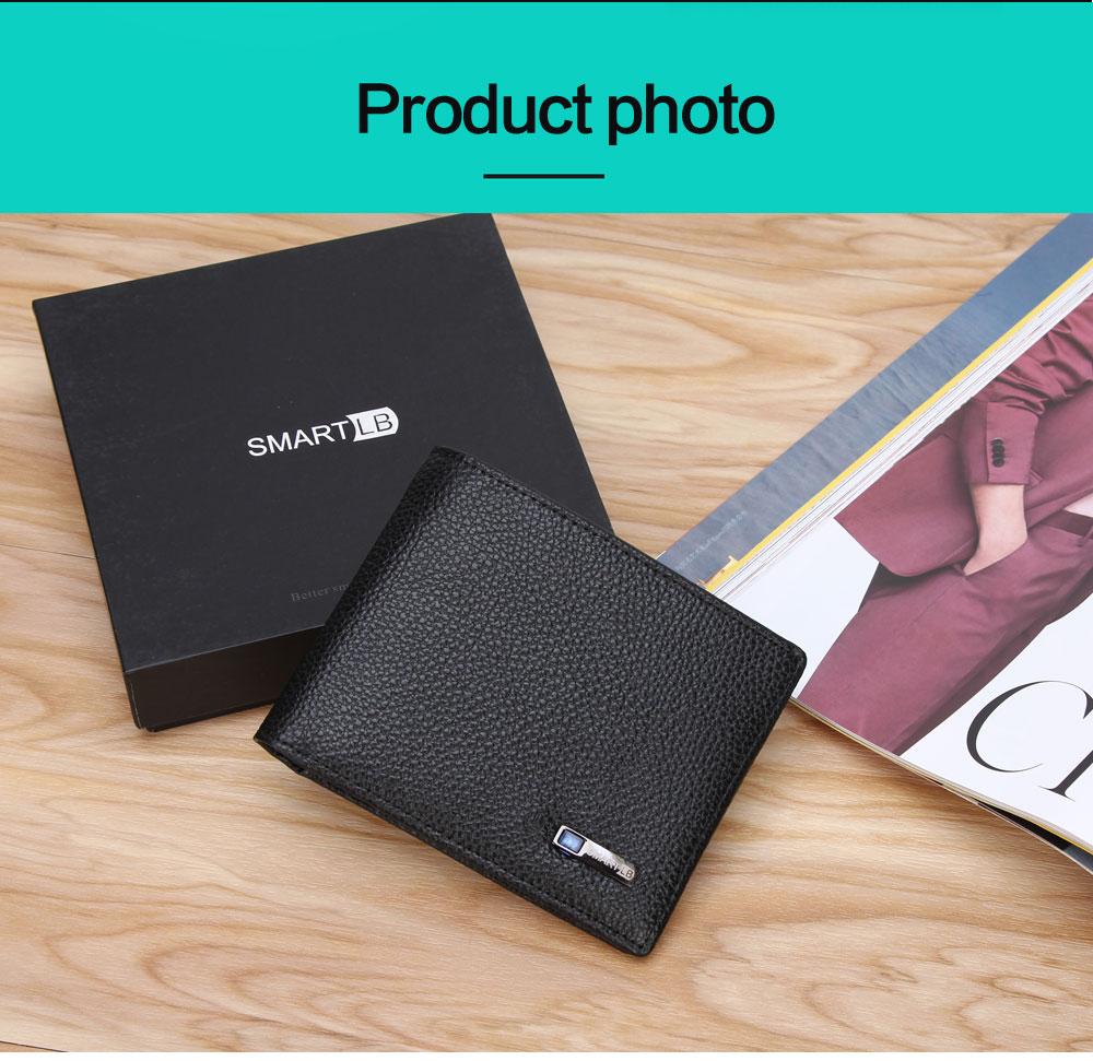 محفظة جلدية ذكية مضادة للضياع مع جهاز تتبع مربوط بالهاتف عبر البلوتوث 10