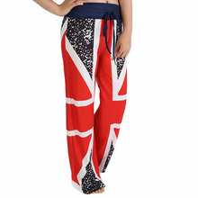 2017 Women Wide Leg Pants Red Loose Pants Side Split Trousers For Women Cool Ladies Streetwear Pantlone Femme Capris Pant(China)