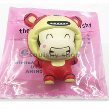 10pcs Jumbo Tiger Doll Squishy Slow Rising Retail Package Phone Straps Charms Cartoon Squishy Scented Pendant Bread Kid Toy Gift