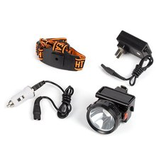 Kohree 3W KL2.8LM LED Miner Headlight Lamp 2000/15000 Lux Mining Light Cap Lamp Shock Proof-Perfect for Camping /Hiking(China)