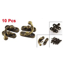 UXCELL 10 Pcs Antique Style Left Swing Bag Clasp Closure Jewelry Case Box Latch(China)