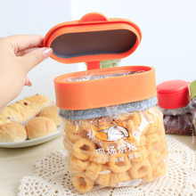 Family Big Size Food Bag Clips Practical Silicone Sealer With Lids Kitchen Storage Accessories Damp-proof Food Fresh Keeping 1PC(China)