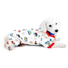 Car Print Dog Pajamas Pet Soft Cozy Pjs Dog Clothes for Small Dogs Puppy Pajamas Outfit Dog Jumpsuit(China)