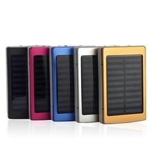 Portable Solar Power Bank 20000mAh Bateria Externa Portatil Dual USB LED PowerBank External Mobile Phone Battery Charger Backup