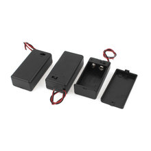Uxcell 3Pcs 9V Leads On/Off Switch Black 9V Battery Holder Case W Cover For . | 9v(China)