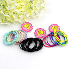 Hot 10pcs/set Cute Girl Elastic Hair Bands Ponytail Holder Head Rope Ties bouncy Children Headwear Color Elastic Hair Band(China)