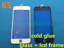 New Original Best Quality LCD Front Touch Screen Glass Outer Lens for iphone 6s 4.7inch with frame bezel Free Shipping