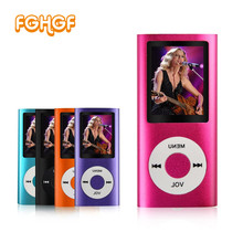 FGHGF slim 4th gen mp3 player support 32GB 16GB 9 Colors for choose Long Music playing time fm radio video recorder player(China)