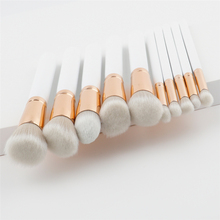 2017 ENNKE New Product 10pcs Eye Shadow Foundation Make up Brush Powder Facial Beauty Cosmetics White Makeup Brush With Box Tool(China)