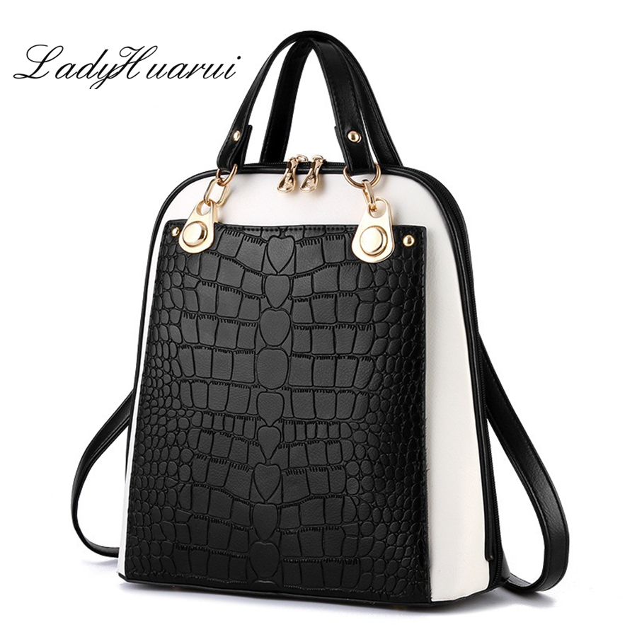 Fashion Simple Style Women Backpacks High Quality Leather School Bags Satchel Brand  Female Backpack 2017 Rucksack Youth Q3<br>