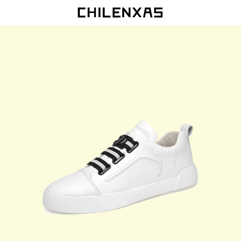 CHILENXAS Autumn Winter New Large Size 36-49 Handmade Breathable Oxford Shoes Men Casual Genuine Leather Lovers Waterproof Solid<br>