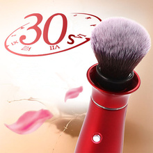 Electric Makeup Brush BB Cream Powder Foundation MakeUp Brush 360 Degree Rotating Head Professional Metal Handle Cosmetic Brush(China)