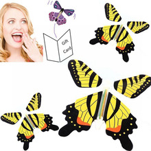 Color Random Magic Toys Hand Transformation Fly Butterfly Magic Tricks Props Funny Novelty Surprise Prank Joke toy(China)
