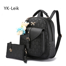 YK-Leik Real Promotion Mochilas Autumn Korean Women Backpack With High Quality Pu Leather Leisure Shopping Backpacks Women Bag