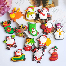 Cartoon Cute Snowman Reindeer Fridge Magnets Christmas Refrigerator PVC Magnetic Santa Claus For Home Decoration Randomly(China)