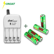 KINBAT 4pcs 2600mAh 1.2V AA Ni-MH Rechargeable Battery AA NiMH Battery With 4 Slots 1 Hour Fast Batteries Charger For Toy Camera(China)