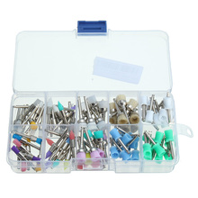 100pcs/bag Dental Polishing Brush Polisher Prophy Rubber Cup Latch Colorful Nylon Bristles Mix Style Dentist Tool Lab Material(China)